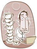 Tocar muito café ilustração stock
