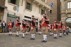 Tocati, Verona, de Band van de Pijp van de Zak Stock Afbeeldingen
