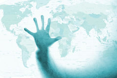 Tocchi il mondo Fotografia Stock Libera da Diritti
