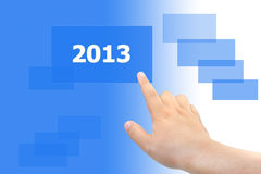 Tocco 2013 della mano Immagine Stock Libera da Diritti