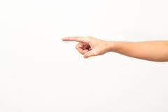 Tocco isolato delle mani Fotografia Stock Libera da Diritti