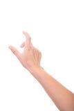 Tocco o clic femminile delle mani a qualcosa Fotografia Stock Libera da Diritti