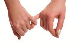 Tocco sensuale delle mani delle donne Fotografia Stock Libera da Diritti