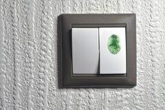 Tocco verde Fotografia Stock