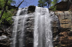 Toccoa Falls Summit. The top of Toccoa Falls,site of dambreak from torrential rains in the early 70's.Waterfall is almost 200 feet high, one of the highest in Stock Image