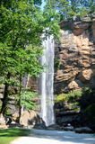 Toccoa Falls. The Toccoa Falls waterfall on the campus of Toccoa Falls College in Stephens County, Georgia Stock Photo