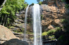 Toccoa Falls waterfall. Waterfall of Toccoa Falls on the campus of Toccoa Falls College in Stephens County, Georgia Stock Image