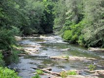 The Toccoa River stock photography