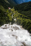 Toce Falls in Northern Italy. The Toce Waterfall photographed from above Royalty Free Stock Images