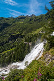 Toce Falls in Northern Italy. The Toce Waterfall photographed from beneath Stock Images