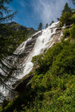 Toce Falls in Northern Italy. The Toce Waterfall photographed from beneath Royalty Free Stock Images