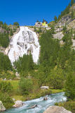 Toce waterfall, piedmont italy. View of toce waterfall from the valley, formazza, piedmont Stock Photography