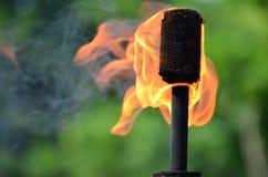 Tocha de mnanipulação do fogo Imagens de Stock Royalty Free
