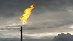 Tocha do gás no crepúsculo vídeos de arquivo