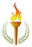 Tocha flamejante ilustração royalty free