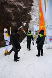 Tocha olímpica de Pyeongchang 2018 no relé do parque nacional de Seoraksan Imagens de Stock Royalty Free