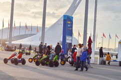 Tocha olímpica em Sochi, Rússia Imagens de Stock