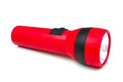 Tocha ou lanterna elétrica vermelha Fotografia de Stock Royalty Free