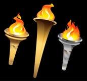 Tochas flamejantes. Foto de Stock Royalty Free