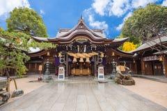 Tocho籍寺庙或福冈巨人菩萨寺庙在福冈,日本 库存照片