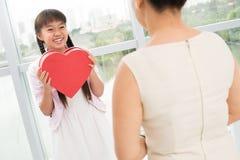 Herz vorhanden Stockfoto