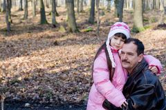 Tochter mit Vati Lizenzfreies Stockbild
