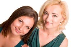 Tochter und ihre Mutter Stockfotos