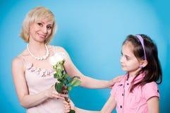 Tochter und Mutter Stockfotografie