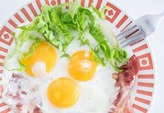 Tocino de la pizca de los huevos fritos Fotos de archivo