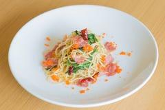 Tocino de los espaguetis Imagen de archivo libre de regalías