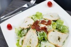 Tocino frito ensalada Imagen de archivo libre de regalías