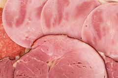 Tocino y carne tajados Foto de archivo