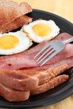 Tocino y desayuno de los huevos Fotos de archivo