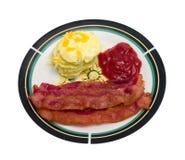 Tocino y huevos Imagen de archivo libre de regalías