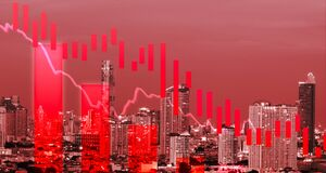 Free Tock Graph Candlestick Price Down Concept With Red Color Royalty Free Stock Photos - 191310118