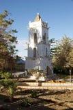 Toconao kyrkligt torn i Toconao, Chile royaltyfria foton