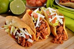 Tocos on a on wood royalty free stock images