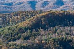 Toczni appalachian wzgórza od Pipestem parka obraz royalty free