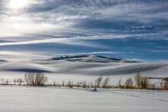 Toczny śnieg zakrywający Idaho wzgórza obraz royalty free