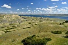 Toczny Wzgórze jezioro Diefenbaker obrazy royalty free