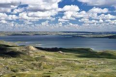Toczny Wzgórze jezioro Diefenbaker zdjęcia stock