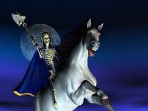 Tod auf zu Pferde Stockbild