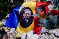 Tod-comemoration von König Mihai von Rumänien stockbilder