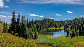 Tod Lake under a beautiful sky Royalty Free Stock Images
