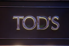 Tod's fashion store Stock Images