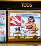 TOD`s shop at at Siam Paragon, Bangkok, Thailand, May 9, 2018 royalty free stock image