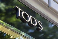 Tod ` s sklepu znak Obrazy Royalty Free