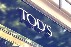 Tod ` s sklepu znak 2 Obrazy Royalty Free