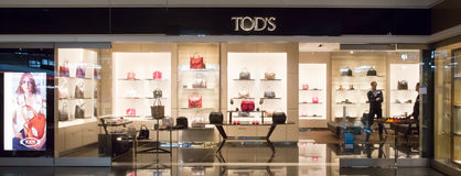 Tod's store in Munich airport royalty free stock photography