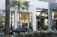 Tod's Store. One of the busiest store in rodeo drive in Beverly Hills, LA, CA., Tod's store for men and ladies outfit Stock Photography